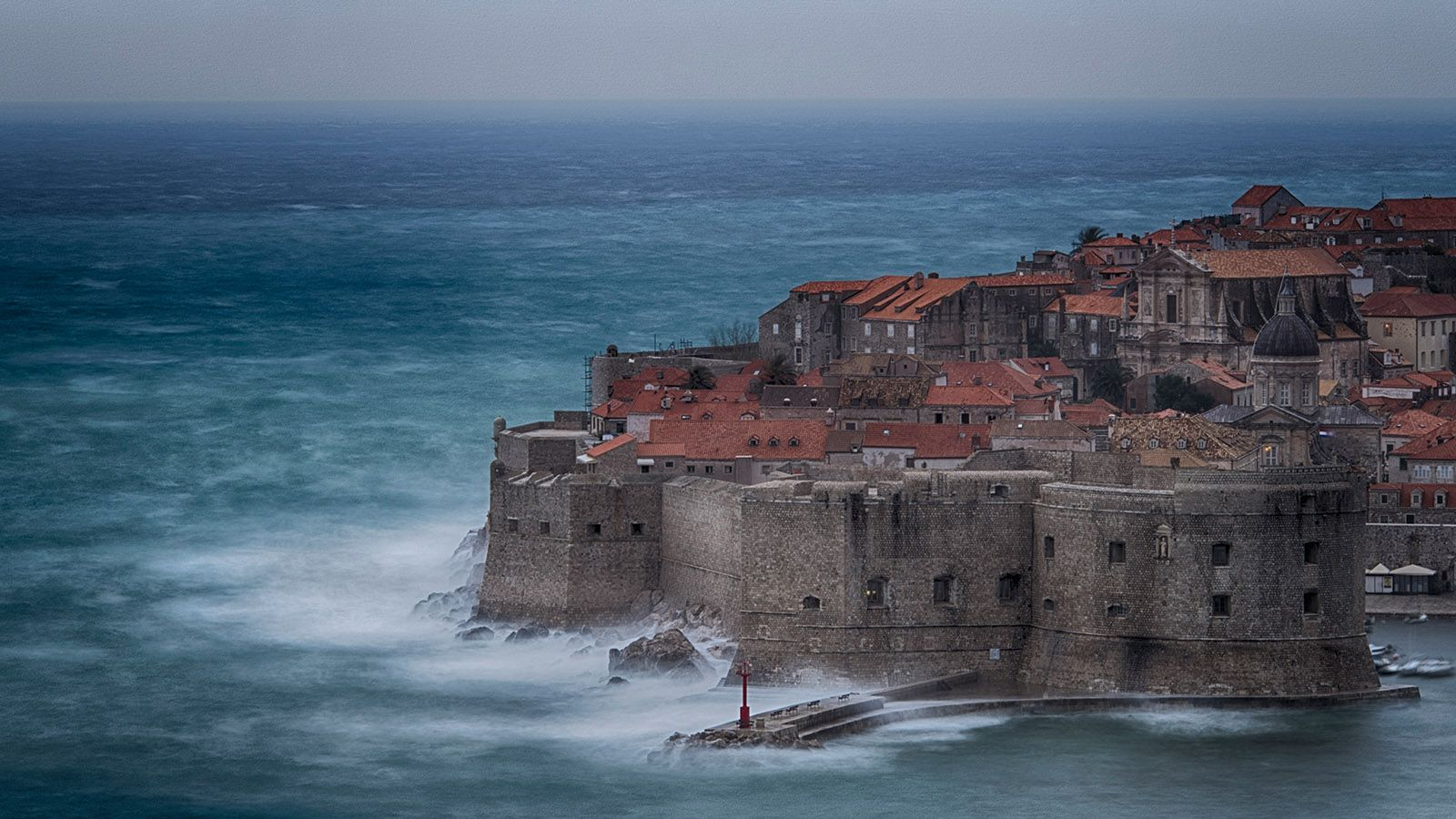 The stormy night in Dubrovnik